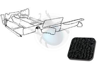 Vw karmann-ghia tapijtset zwart van 56 tot 68  20 delig, image 1